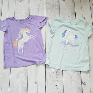5T Girls Unicorn T shirts